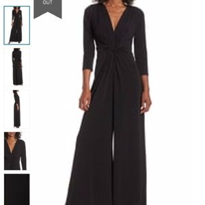 Eliza j black twist wide leg jumpsuit romper 12